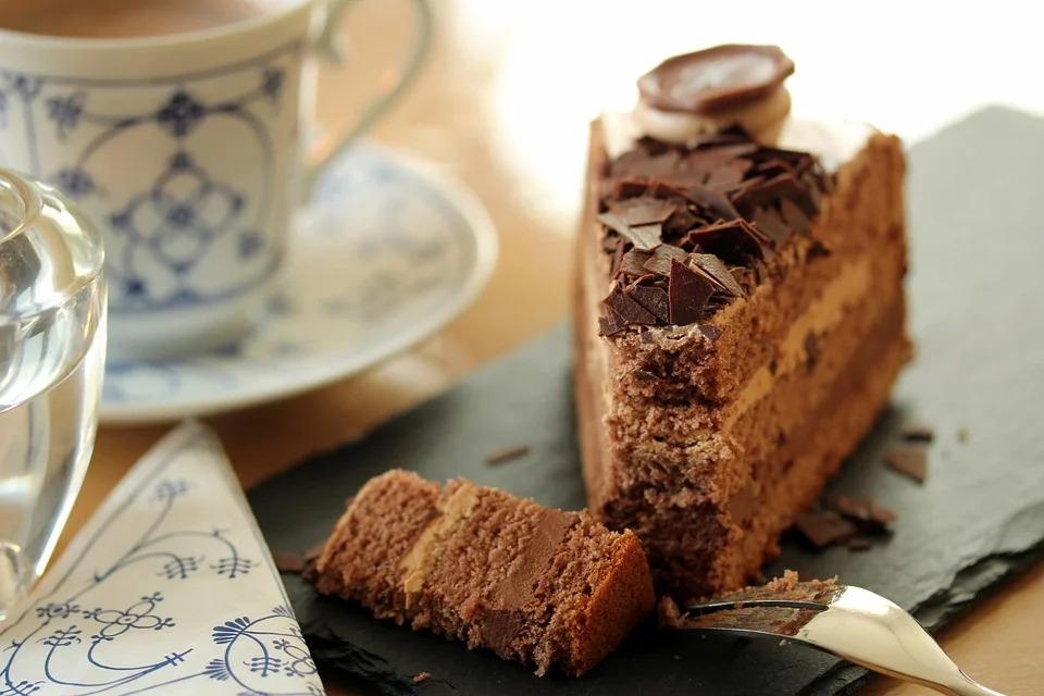 Varen met koffie en gebak